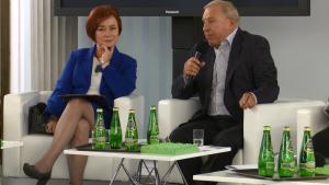 poseł dr Lidia Gądek, prof. Jerzy Stuhr Debata o leczeniu bólu w Polsce fot. ŚWIECZAK
