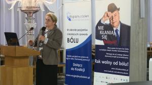 dr n. med. Jadwiga Pyszkowska – prezes Polskiego Towarzystwa Medycyny Paliatywnej Debata o leczeniu bólu w Polsce fot. ŚWIECZAK