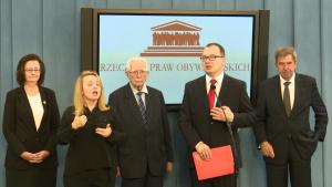 Konferencja prasowa Rzecznika Praw Obywatelskich dr Adama Bodnara oraz Rzeczników Praw Obywatelskich poprzednich kadencji fot. ŚWIECZAK