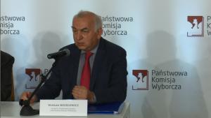 Wiesław Kozielewicz sędzia Sądu Najwyższego, zastępca przewodniczącego PKW Referendum niewiążące! Frekwencja - zaledwie 7,80% fot. ŚWIECZAK