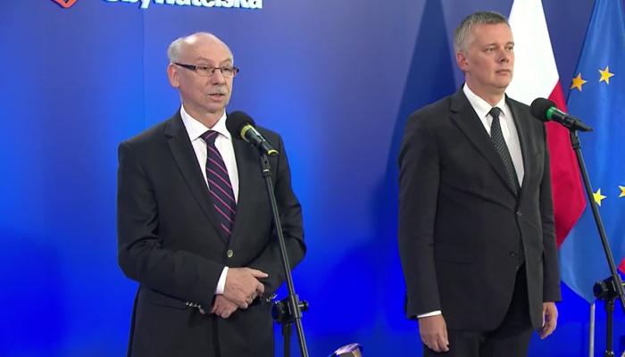 """Siemoniak i Lewandowski zapraszają do debaty polityków PiS. Siemoniak:""""Panie Antoni, pan się nie boi!"""" fot. ŚWIECZAK"""