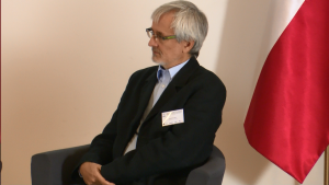 """prof. Bolesław Rok Dyrektor Centrum Etyki Biznesu i Innowacji Społecznych Konferencja """"Biznes a wyzwania społeczne, środowiskowe i gospodarcze kraju. Rola i odpowiedzialność"""" fot.ŚWIECZAK"""
