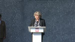 Izabella Sariusz-Skąpska prezes Federacji Rodzin Katyńskich Uroczystość oficjalnego otwarcia Muzeum Katyńskiego fot. ŚWIECZAK
