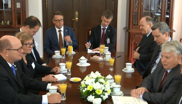 Przewodniczący parlamentu Szwecji złożył wizytę w Senacie fot. ŚWIECZAK
