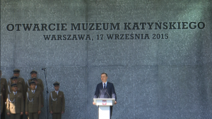 Prezydent Andrzej Duda Uroczystość oficjalnego otwarcia Muzeum Katyńskiego fot. ŚWIECZAK