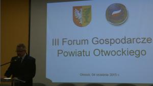 Mirosław Pszonka Starosta Otwocki III Forum Gospodarcze Powiatu Otwockiego fot.ŚWIECZAK