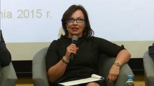 dr Elwira Gross-Gołacka Dyrektor Generalna w Ministerstwie Gospodarki III Forum Gospodarcze Powiatu Otwockiego fot.ŚWIECZAK