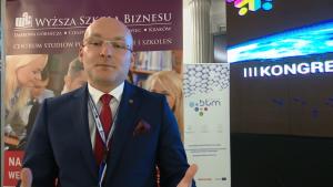 dr Marcin Lis, Prorektor WSB ds. Rozwoju i Spraw Studenckich III Kongres Klastrów Polskich fot. ŚWIECZAK