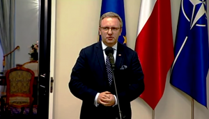 Teresa Piotrowska Szefowa MSW po spotkaniu z prezydentem Andrzejem Dudą fot. ŚWIECZAK