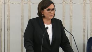 Małgorzata Sadurska. Minister w kancelarii Prezydenta RR Referendum 25 października - burzliwa debata w senacie 2-go września fot.ŚWIECZAK