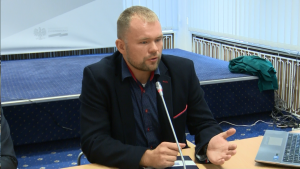 Tomasz Krzyżak wiceprezes zarządu DCD Procesor D32PRO – premiera w Ministerstwie Gospodarki fot. ŚWIECZAK