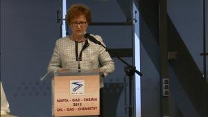 dr Alicja Adamczak PREZES Urzędu Patentowego RP XIII Międzynarodowa Konferencja Nafta-Gaz-Chemia 2015 fot. ŚWIECZAK