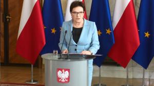 Premier Ewa Kopacz w sprawie kryzysu imigracyjnego w UE fot. ŚWIECZAK