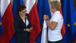 Medaliści z MŚ w Pekinie u premier Kopacz fot. ŚWIECZAK