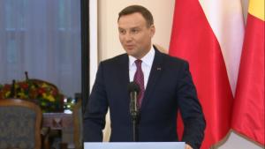Prezydent Andrzej Duda Prezydent RP i JKM Król Belgów -wypowiedź dla mediów fot. ŚWIECZAK