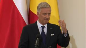 Król Belgów Filip Prezydent RP i JKM Król Belgów -wypowiedź dla mediów fot. ŚWIECZAK