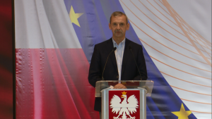 Sławomir Broniarz prezes Związku Nauczycielstwa Polskiego Konwencja Programowa Zjednoczonej Lewicy w Warszawie fot. ŚWIECZAK