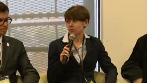 """Joanna Wis   Dyrektor CDP Central and Eastern Europe II Konferencja """"Z Warszawy do Paryża przez Limę"""" fot. ŚWIECZAK"""