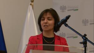 """Małgorzata Wierzbicka Konferencja """"Doświadczenia z wdrażania funduszy europejskich 2007–2013 w sektorze energetyki w ramach POIiŚ"""" fot. ŚWIECZAK"""