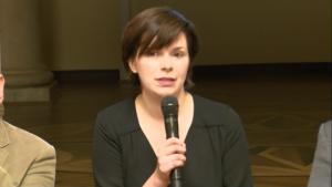 Katarzyna Szczerbowska - dziennikarka IV Warszawskie Forum Psychiatrii Środowiskowej fot. ŚWIECZAK