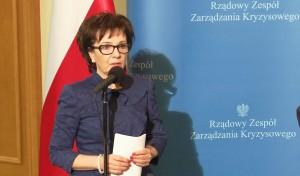 Elżbieta Witek Rzecznik Rządu Uprowadzono 5 polskich marynarzy fot. ŚWIECZAK
