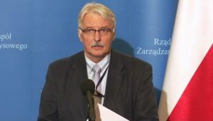 Witold Waszczykowski Minister spraw zagranicznych Uprowadzono 5 polskich marynarzy fot. ŚWIECZAK