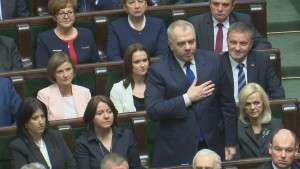 Pierwsze posiedzenie Sejmu VIII kadencji, ślubowanie posłów fot. ŚWIECZAK