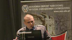 mjr Jarosław ROZMANOWSKI (DO RSZ) Obrona powietrzna w systemie bezpieczeństwa państwa fot. ŚWIECZAK