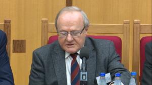 prof. dr hab. Stanisław Biernat, wiceprezes Trybunału Konstytucyjnego Kontrola konstytucyjności prawa a stosowanie prawa fot. ŚWIECZAK