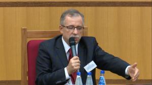 prof. dr hab. Piotr Tuleja sędzia Trybunału Konstytucyjnego Kontrola konstytucyjności prawa a stosowanie prawa w orzecznictwie NSA, SN i TK fot. ŚWIECZAK