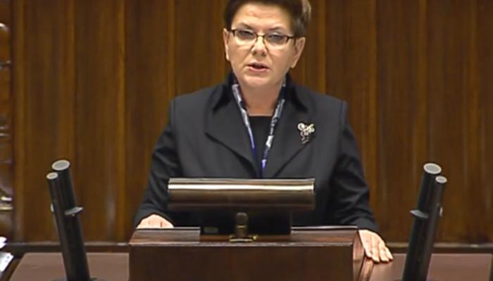 Beata Szydło Prezes Rady Ministrów Expose premier Beaty Szydło fot. ŚWIECZAK