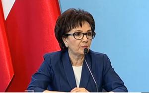Elżbieta Witek Rzecznik prasowy rządu Morawiecki: ratujemy 9 miliardów euro ze środków unijnych fot. ŚWIECZAK