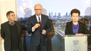 Prezydent Warszawy Hanna Gronkiewicz-Waltz podsumowała pierwszy rok III kadencji fot. ŚWIECZAK
