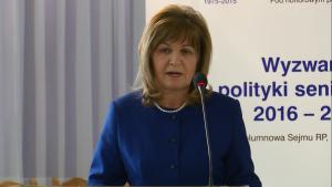 Małgorzata Zwiercan, przewodnicząca Komisji Polityki Senioralnej IV Ogólnopolska Konferencja Uniwersytetów Trzeciego Wieku fot. ŚWIECZAK