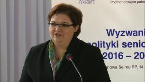 dr Elżbieta Bojanowska, wiceminister rodziny, pracy i polityki społecznej IV Ogólnopolska Konferencja Uniwersytetów Trzeciego Wieku fot. ŚWIECZAK