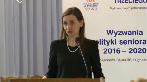 dr Sylwia Spurek, zastępca rzecznika praw obywatelskich IV Ogólnopolska Konferencja Uniwersytetów Trzeciego Wieku fot. ŚWIECZAK