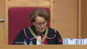 Sławomira Wronkowska-Jaśkiewicz Sędzia Trybunału Konstytucyjnego Trybunał Konstytucyjny wydał wyrok, dotyczący wyboru sędziów Trybunału Konstytucyjnego fot. ŚWIECZAK