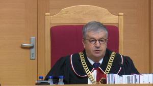 Andrzej Wróbel sędzia TK Trybunał Konstytucyjny ogłosił wyrok w sprawie nowelizacji ustawy o TK autorstwa PIS fot. ŚWIECZAK