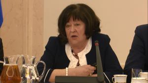 Ewa Mańkiewicz-Cudny  Prezes Federacji Stowarzyszeń Naukowo-Technicznych NOT Debata nt. rozwoju innowacyjności w Polsce fot. ŚWIECZAK