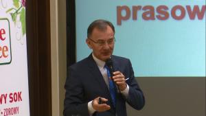 prof. dr hab. Mirosław Jarosz I Narodowy Kongres Żywieniowy-konferencja prasowa fot. ŚWIECZAK