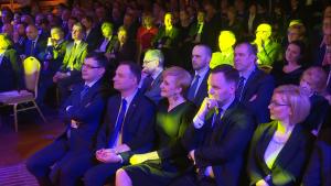 """Andrzej Duda Człowiekiem Wolności 2015 Tygodnika """"wSieci"""" fot. ŚWIECZAK"""