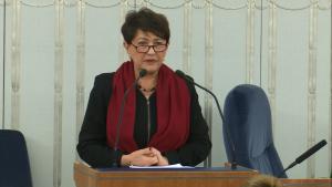 Senator Jadwiga Rotnicka Senat przyjął ustawę o prokuraturze fot. ŚWIECZAK