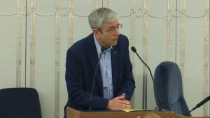 Senator Jerzy Chróścikowski Senat przyjął ustawę o prokuraturze fot. ŚWIECZAK