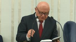 Senator Piotr Zientarski Senat przyjął ustawę o prokuraturze fot. ŚWIECZAK