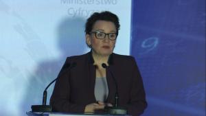 """Anna Zalewska Minister Edukacji Narodowej Konferencja """"Szerokopasmowa Polska 2020"""" fot. ŚWIECZAK"""
