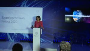 """Anna Streżyńska Minister Cyfryzacji Konferencja """"Szerokopasmowa Polska 2020"""" fot. ŚWIECZAK"""