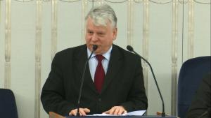 Wicemarszałek Senatu Bogdan Borusewicz Senat przyjął ustawę o prokuraturze fot. ŚWIECZAK