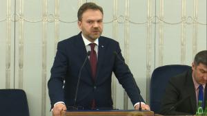 Senator Artur Warzocha Senat przyjął ustawę o prokuraturze fot. ŚWIECZAK