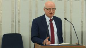 Senator Mieczysław Augustyn Senat przyjął ustawę o prokuraturze fot. ŚWIECZAK