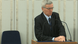 Senator Stanisław Kogut Senat przyjął ustawę o prokuraturze fot. ŚWIECZAK